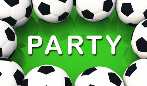 Fussball Party Einladung Grusskarte